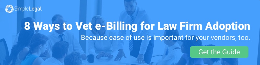 Vetting e-Billing for Law Firms
