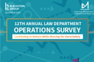 Above the Law: The 2019 Legal Department Operations Survey Report