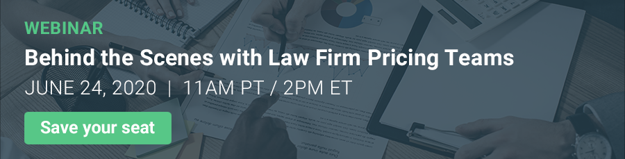 Behind the Scenes with Law Firm Pricing Teams Webinar