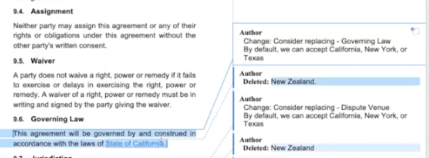 ReviewAI automatically adjusts the contract clauses according to pre-defined standards.